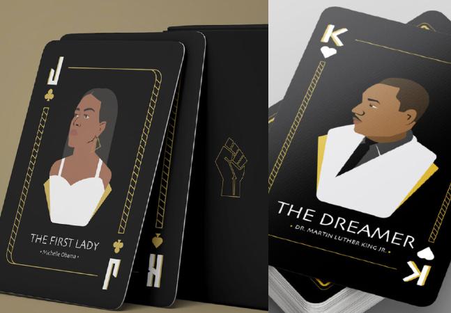 Baralho chiquérrimo homenageia personagens negras que revolucionaram a história