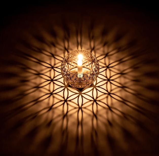 Porta-velas de Projeção Geométrica de Greg Blanpied