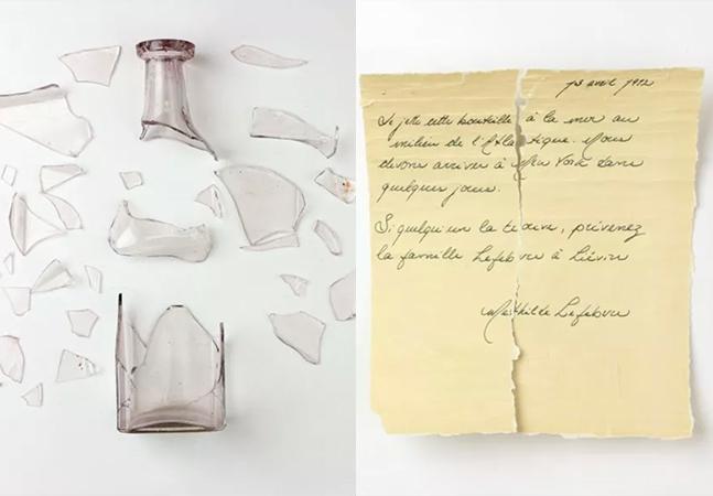 Ciência analisa garrafa com bilhete que pode ter sido lançada do Titanic
