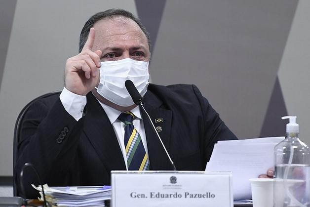 General Pazuello em depoimento à CPI da Covid