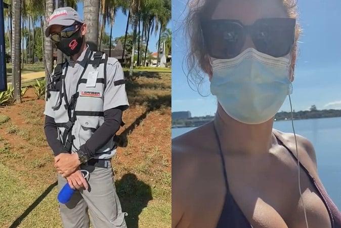 Segurança aborda mulher por andar de biquíni e faz vista grossa para homem sem camisa