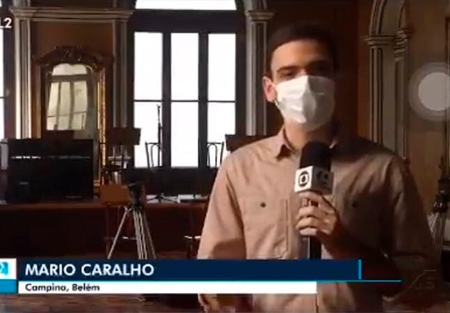 Afiliada da Globo comete gafe e coloca palavrão no nome de repórter