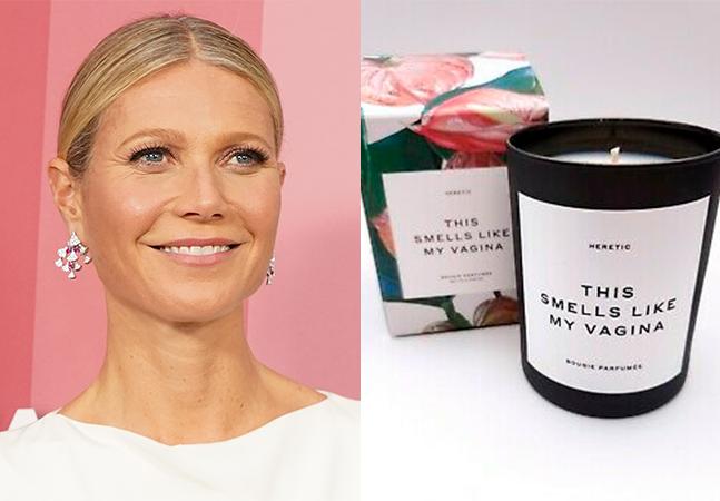 Gwyneth Paltrow tem marca processada após explosão de vela com odor de vagina