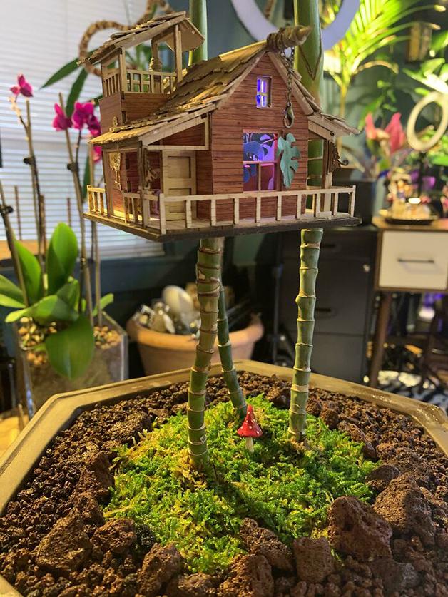 casa na árvore para plantas