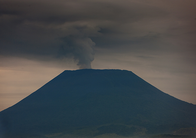 Erupção anterior do vulcão em 2010