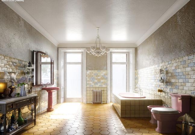 Designer mostra evolução dos banheiros de 100 em 100 anos partindo de 1520