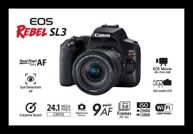 Canon EOS Rebel SL3: conheça a câmera digital mais bem avaliada da Amazon
