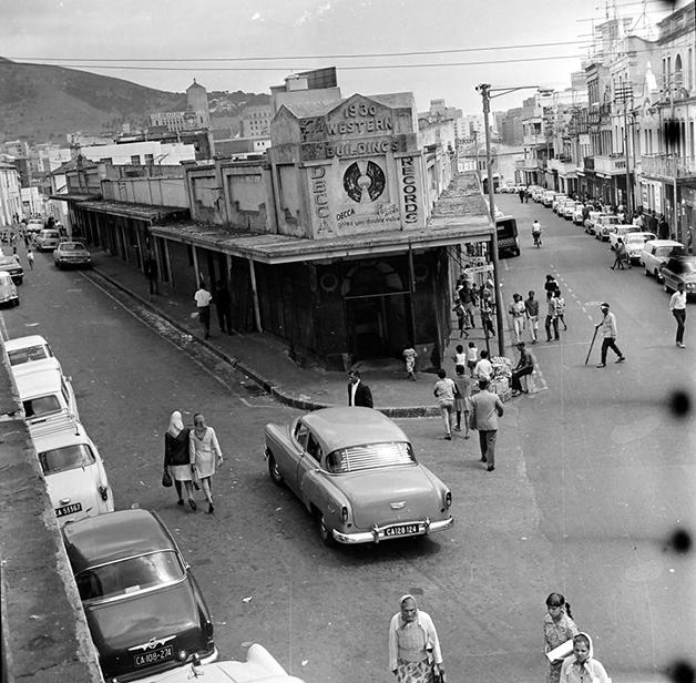 Rua do District Six na Cidade do Cabo