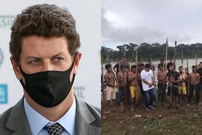Ricardo Salles é alvo de busca e apreensão; crianças ianomâmis morrem por ataques de garimpeiros