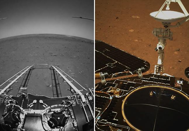 Marte: robô da China revela primeiras imagens de planeta vermelho
