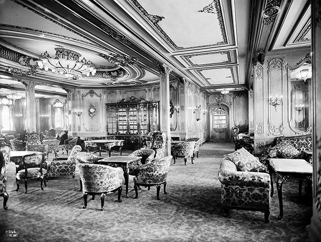 Salão da primeira classe do Titanic
