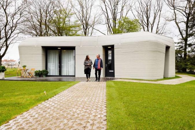 Casa feita com impressora 3D abre suas portas para inquilinos