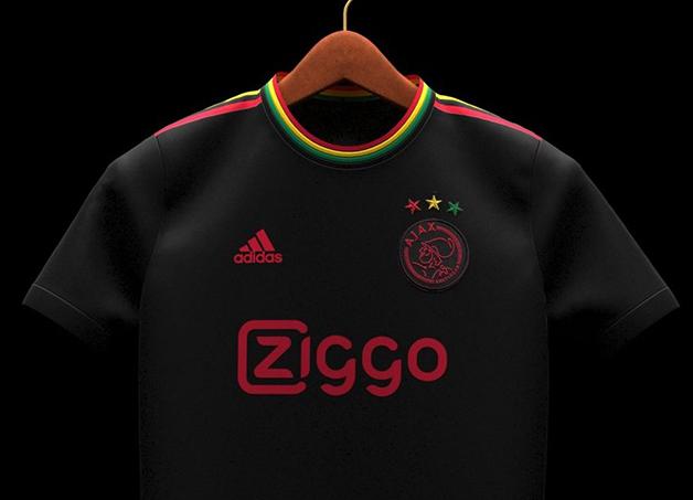 Camisa do Ajax em homenagem a Bob Marley