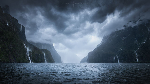 Milford Sound, na Nova Zelândia