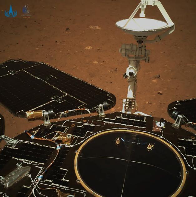 Foto do robô chinês em Marte