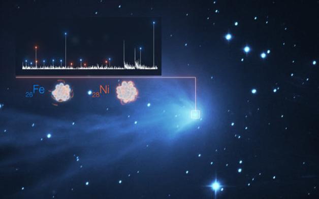 Ferro e níquel detectados na atmosfera de um cometa