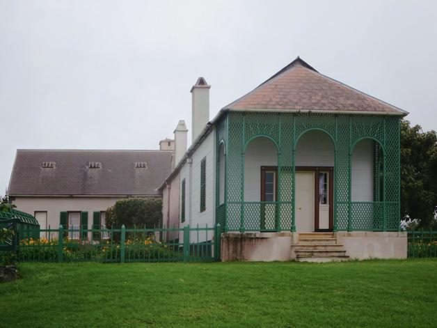 A Longwood House, na ilha de Santa Helena, onde Napoleão morreu