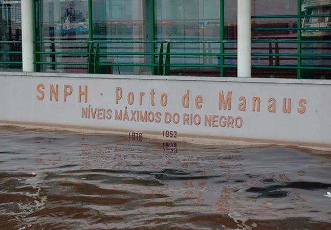 Rio Negro atinge 29,84 metros e Manaus já vive 2ª maior cheia; marca histórica deve ser batida