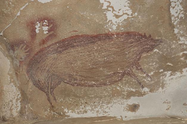 Pintura rupestre em Sulawesi