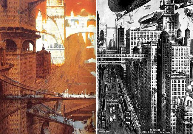 Como artistas imaginaram que seria a cidade do futuro no início do século passado?