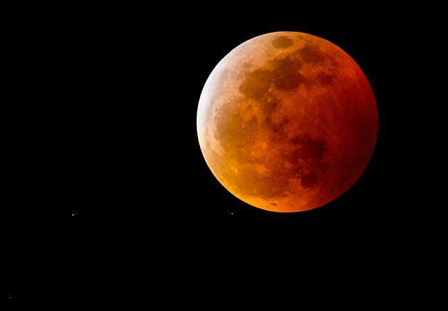 'Superlua de Sangue' e eclipse lunar total acontecem na quarta-feira