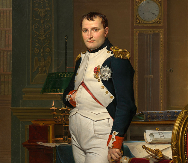 Retrato de Napoleão pintado por Jacques-Louis David