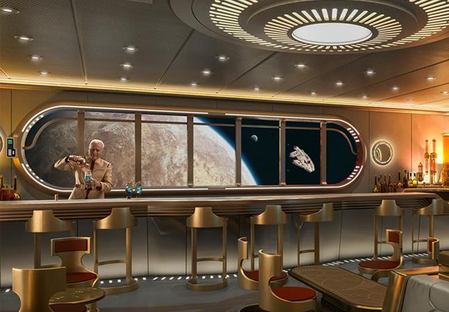 O primeiro cruzeiro da Disney terá um bar intergaláctico de Star Wars e outras atrações