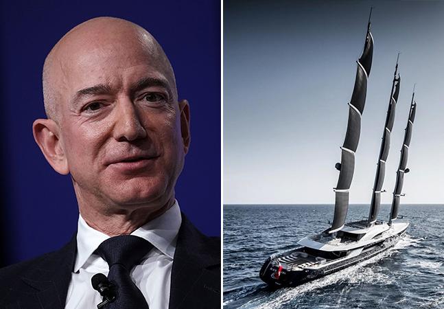 O iate de 500 milhões de dólares de Jeff Bezos