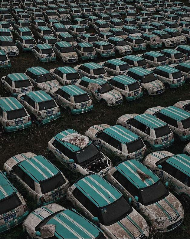 cemitério de carros elétricos na China