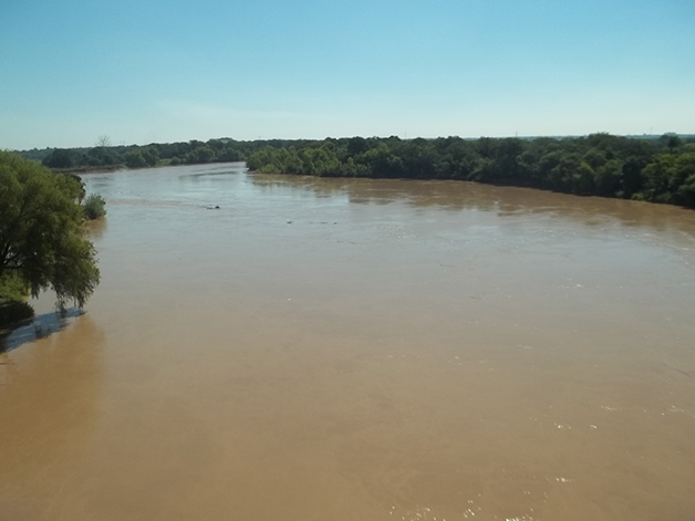 Rio Bermejo, no Parque Nacional El Impenetrável, na província de Chaco