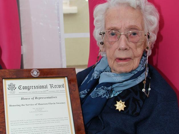 Maureen e sua menção de honra pelo congresso dos EUA