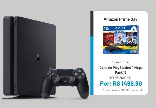 PlayStation 4: Console Mega Pack com 55% de desconto no Prime Day