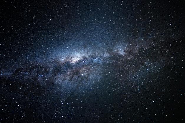A Via Láctea vista da Patagônia argentina