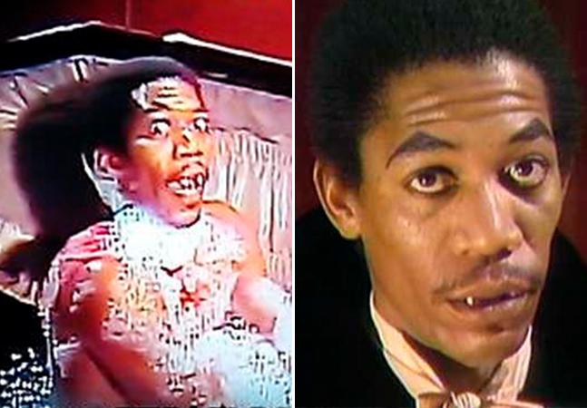 Veja o jovem Morgan Freeman interpretando um vampiro tomando banho em um caixão nos anos 70
