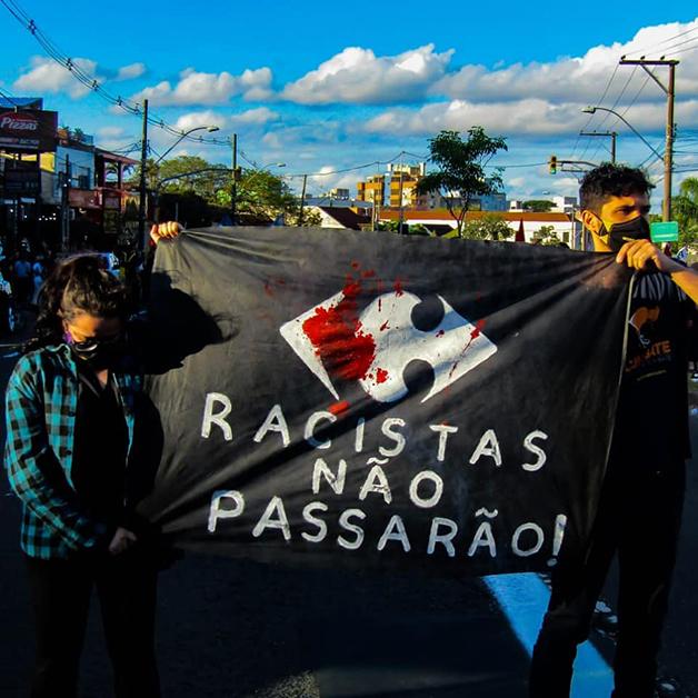 Protesto realizado em Porto Alegre após o assassinato de João Alberto