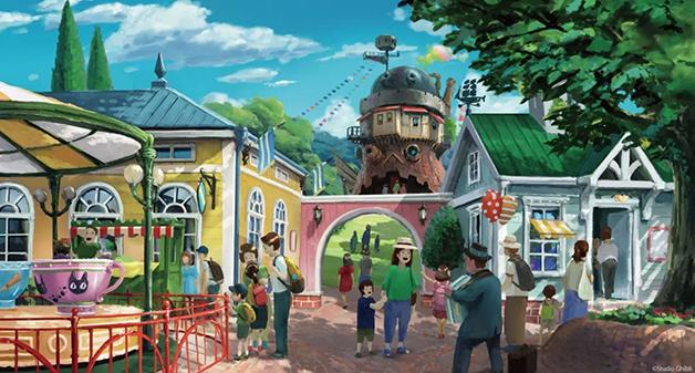 Croquis do parque do Studio Ghibli