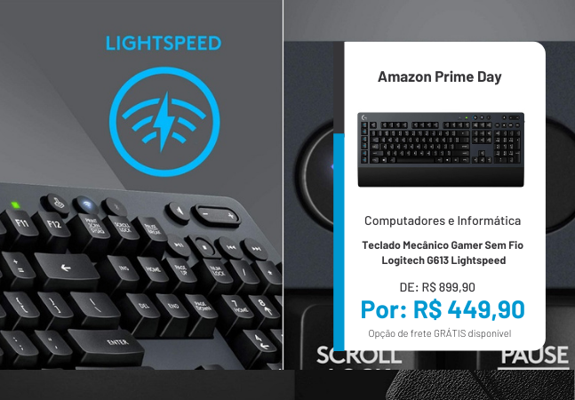 Teclado e mouse gamer: produtos pela metade do preço no Prime Day