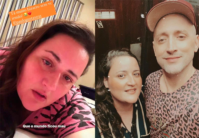 Irmã de Paulo Gustavo se emociona ao falar de saudade