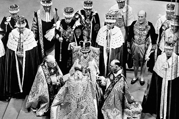 A cerimônia de coroação de Elizabeth, em 1953