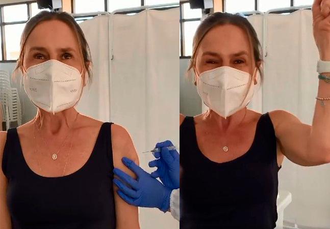 Jornalista com 5 diagnósticos de câncer se vacina contra covid