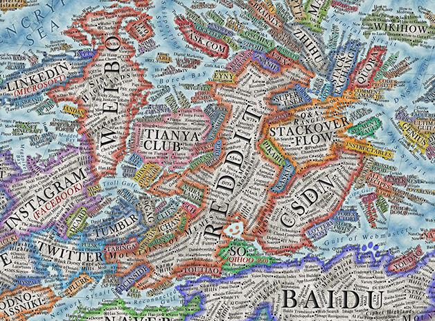 O mapa de Vargic reúne mais de 3 mil sites até 2021