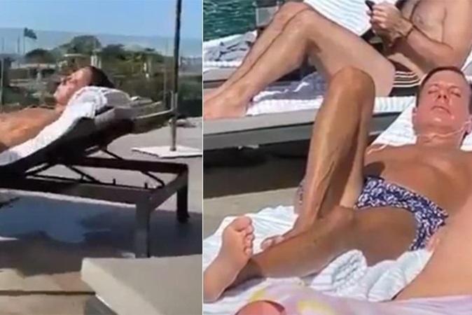 Doria toma sol, sem máscara, em piscina de hotel; governador nega aglomeração
