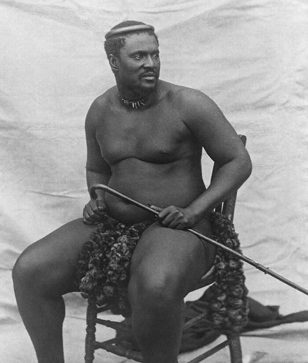 Cetshwayo, Rei dos Zulus, que venceu o exército britânico na batalha de Isandlwana, em 1878