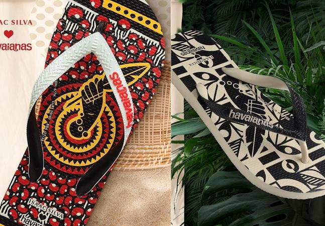 Havaianas e estilista Isaac Silva lançam coleção afroindígena