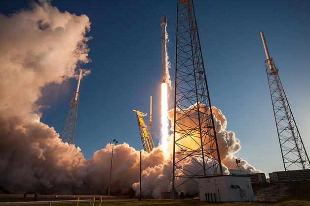 Decolagem do foguete Falcon 9, que levou em 2018 o TESS ao espaço