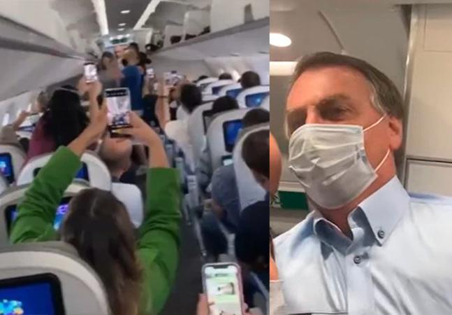 Bolsonaro é xingado em avião ao entrar para cumprimentar passageiros