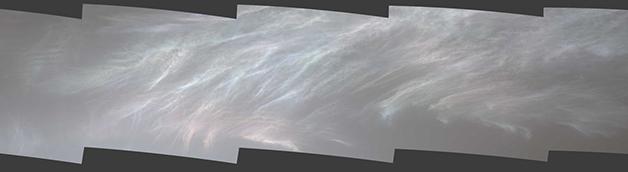 """As nuvens """"madrepérola"""" marcianas"""