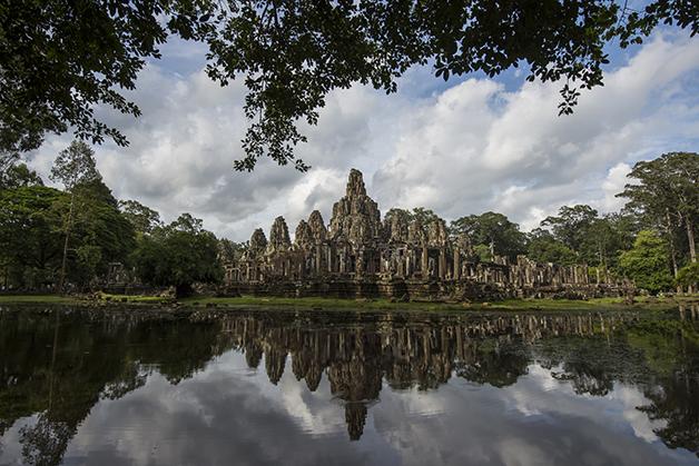 Templo Bayon, em Camboja