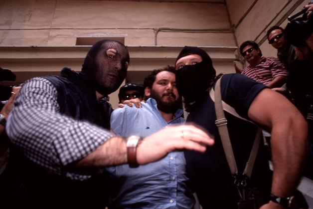 Giovanni Brusca sendo preso em 1996