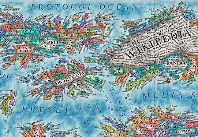 'Mapa da Internet' imagina os sites mais populares do mundo como se fossem países